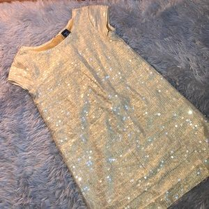 Gap Kids Sequence Gold Dress